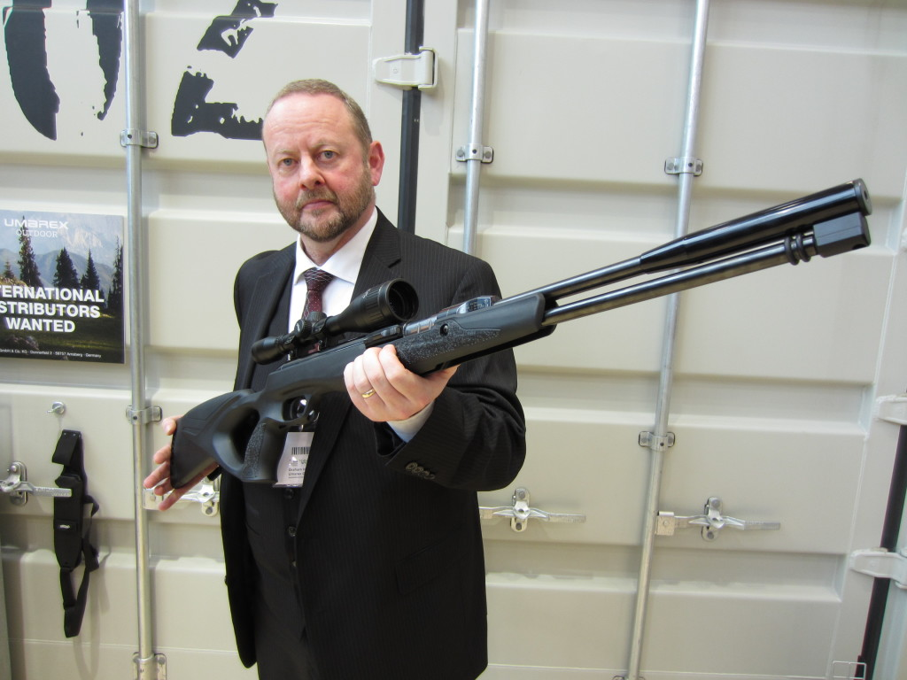 Graham Damerell-Hinds of Armes with the new-look Walther LGU